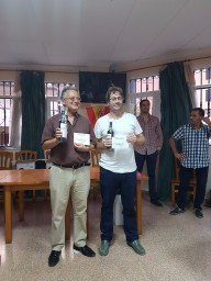 Juan Vicente Navarro, primer clasificado sub1700. Carlos J. Molina 2º