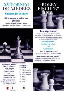 Cartel torneo Bobby Fischer 2018